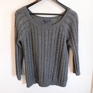 AEO Charcoal Gray Knit Sweater